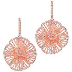 Fei Liu Rose Gold Stud Size Drop Earrings