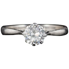 Antiker Edwardischer Diamant Solitaire Ring 18 Karat Gold, circa 1910