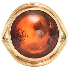 Vintage Amber Cabochon Ring