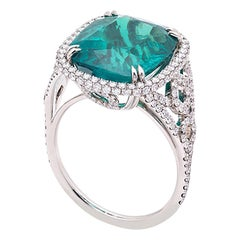 Natural Certified Colombian Emerald 8.30 Carat Platinum Ring