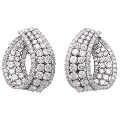 Diamond Swirl Hoop Earrings