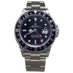 Rolex GMT Master II 16710 Black Dial Stainless Steel Box and Booklets