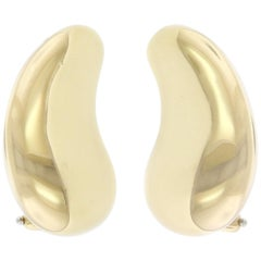 Tiffany & Co. Elsa Peretti 18 Karat Yellow Gold Bean Earrings