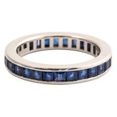 Tiffany & Co. Platinum Sapphire Full Circle Eternity Wedding Band