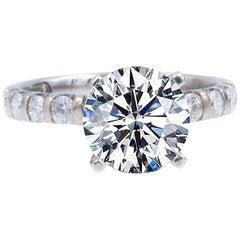 LEO Diamond Engagement Ring Solitaire Diamond Band 14 Karat Gold Semi-Mount