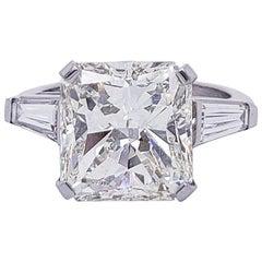 Seven Carat Radiant Cut Diamond Engagement Ring in Platinum - GIA