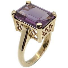 Kian Design 9 Carat Gold 10.21 Carat Lab-Grown Emerald Cut Alexandrite
