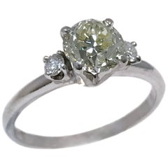 Vintage Three-Diamond Engagement Ring