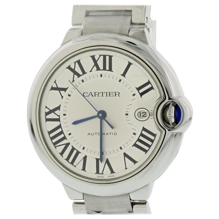 bac5836a8a7 Cartier Ballon Bleu 3001 with Band and Silver Dial For Sale at 1stdibs