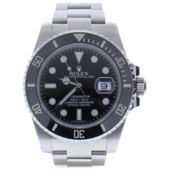 Rolex Submariner 116610 with 7.5 Band, Ceramic Bezel and Black Dial
