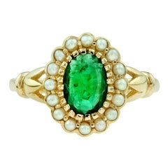 Emerald Pearl Cocktail Ring