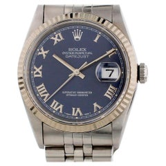 Rolex Datejust 16234 with Band and Blue Dial