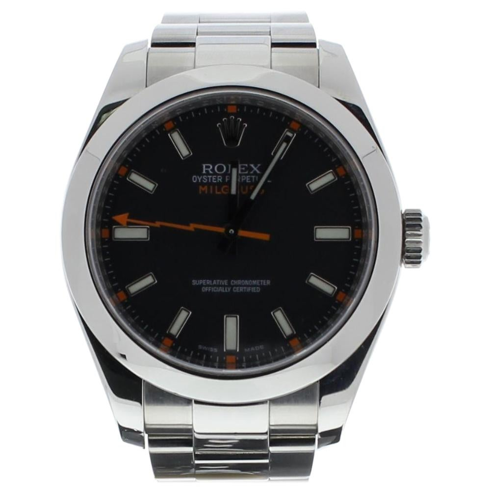 Rolex Milgauss 116400 with Band and Black Dial