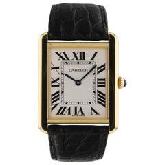 Cartier Tank Yellow Gold Steel Quartz Midsize Watch W1018855