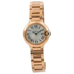 Cartier Ballon Bleu 3007 W69002Z2 Women's Quartz Watch 18 Karat Rose Gold