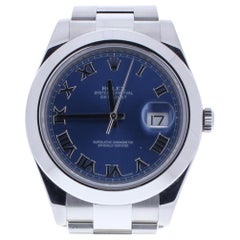 Rolex Datejust II 116300 with Band and Blue Dial
