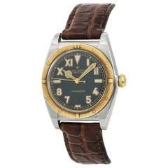 Rolex Oyster Perpetual Bubble Back 3372 Men's Automatic Watch 18 Karat YG