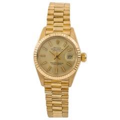 Rolex 6917 Vintage Datejust Women's 18 Karat Yellow Gold Automatic Watch