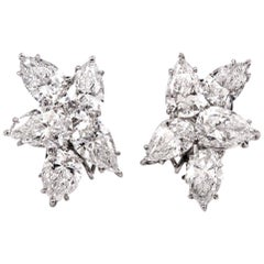 Celebrity GIA Diamond Platinum Clipon Earrings