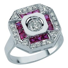 18K Gold Paris Ruby Minimalist Ring