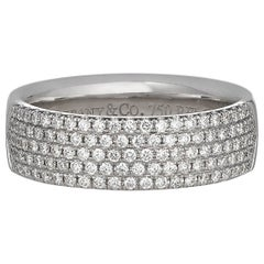 Tiffany & Co. White Gold and Pavé Diamond Band Ring