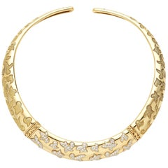 Van Cleef & Arpels Yellow Gold and Diamond Dove Collar Necklace