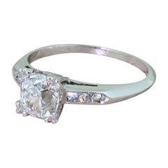 Art Deco 1.20 Carat Old Cut Diamond Engagement Ring