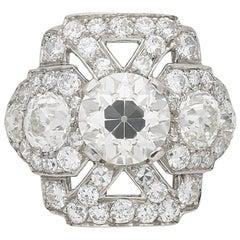 Ornate Diamond Cluster Ring, circa 1920