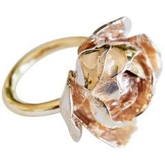 Rose Ring Symbol Love Polished brass J Dauphin