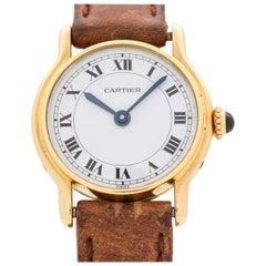 Cartier Ladies 18 Karat Yellow Gold Watch, 2000s