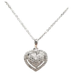 14 Karat Diamond Pave Heart
