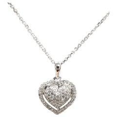 14 Karat Diamond Pave Heart