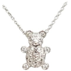 "18 Karat Diamond ""Teddy"" Bear Pendant"