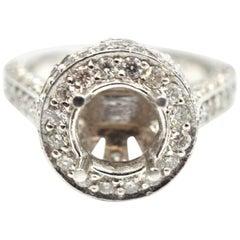 1.60 Carat Diamond 18 Karat White Gold Semi-Mount Engagement Ring