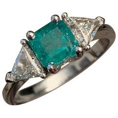 1.39 Carat Columbian Emerald and Diamond Ring, Ben Dannie