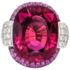 35.00 Carat Tourmaline Diamond Ring