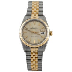 Rolex OP Datejust #1603 Two Tone 18k Gold/SS Men's Automatic Watch w/ Box