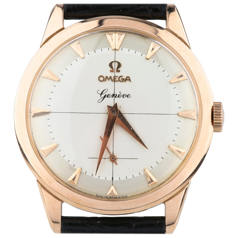 Omega Calibre 267 Vintage 18 Karat Rose Gold 17 Jewels Men's Wristwatch