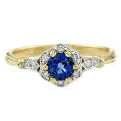 Ceylon Sapphire Diamond Cocktail Ring