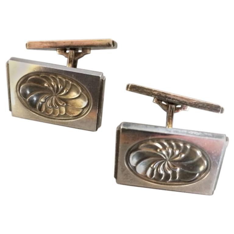 georg jensen sterling silver cufflinks no 59a for sale at. Black Bedroom Furniture Sets. Home Design Ideas