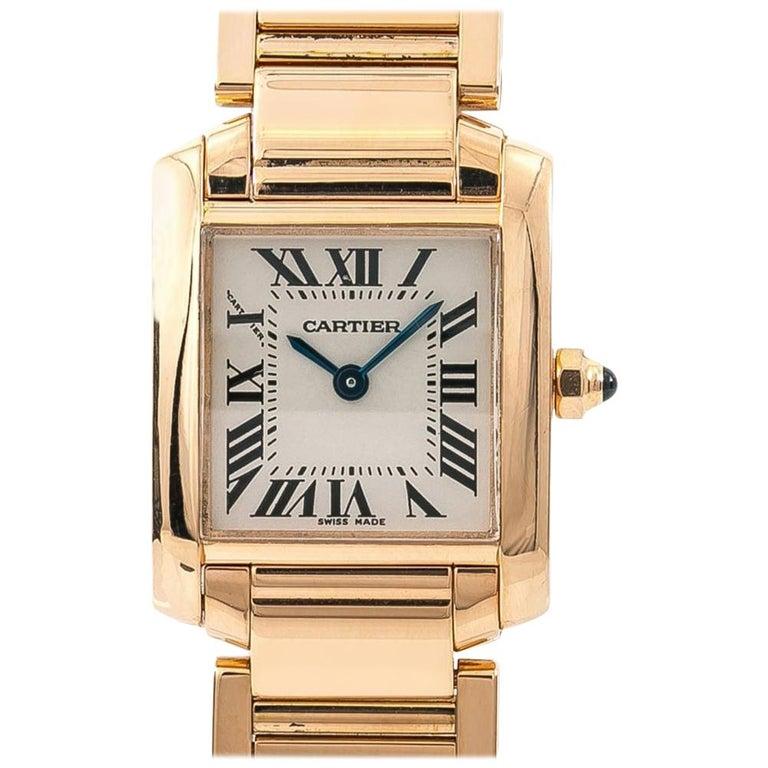 Cartier Tank Francaise 2793 W500264h Women S Quartz Watch 18 Karat