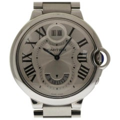 Cartier Ballon Bleu W6920011 Steel Two Timezone GMT 2 Year Warranty #357-1