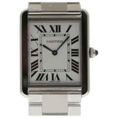 Cartier New Tank Solo Large W5200014 Stainless Steel Box/Paper/Warranty #CA71
