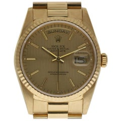 Rolex Day-Date President 18238 Yellow Gold 1989 Papers/2 Year Warranty #329-1