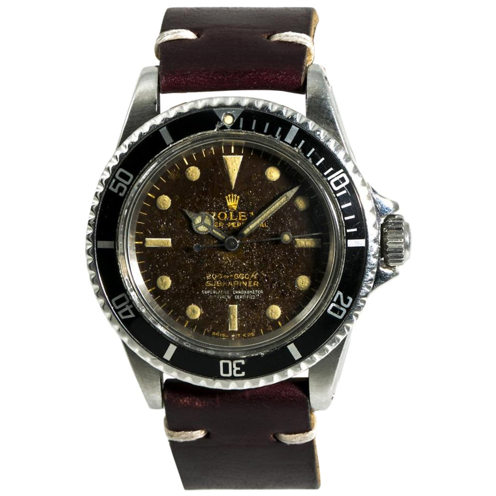 Rolex Submariner 5512 Men's Automatic Vintage Watch Tropical Gilt Dial