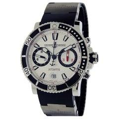 Ulysse Nardin Maxi Marine Diver Chronograph 8003-102-3/916 Silver Wave Dial