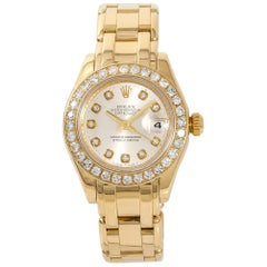 Rolex Datejust Pearlmaster 80318 Women's Automatic Watch 2.50 Carat 18 Karat YG