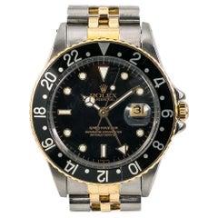 Rolex GMT-Master 16753 Vintage Men's Automatic Watch Black Dial Two-Tone