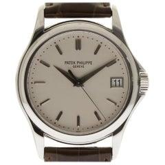 Patek Philippe Calatrava 5127G 18 Karat White Gold White Leather 2 Year Warranty