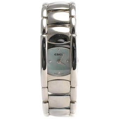Ebel Beluga Manchette 9057A21 Diamond Blue Mother of Pearl Quartz Women's Watch